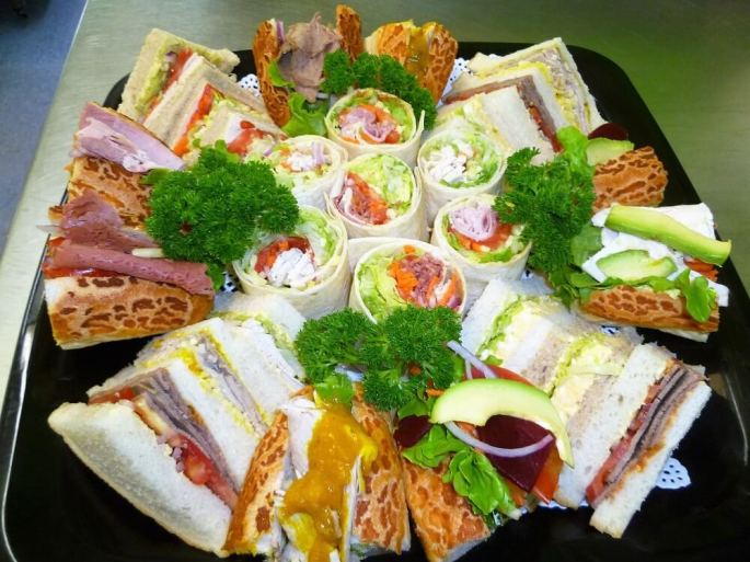 sandwiches wraps and rolls catering platter
