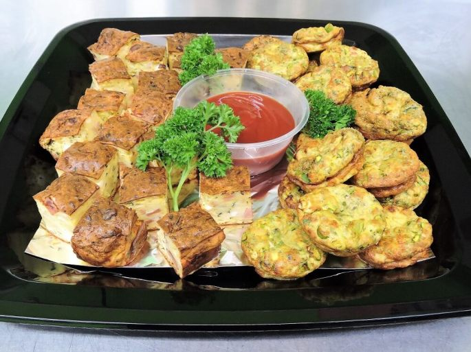 savoury slices and quiches catering platter