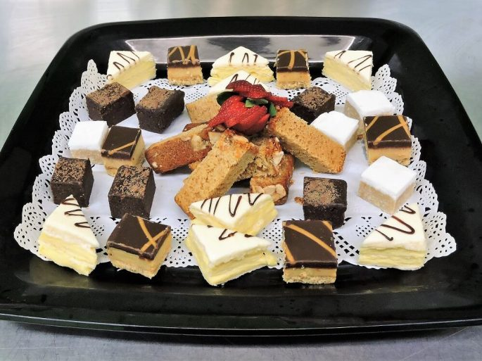 sweet slices and cakes catering platter