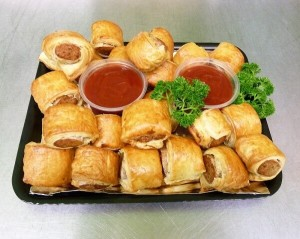 sausage rolls catering platter