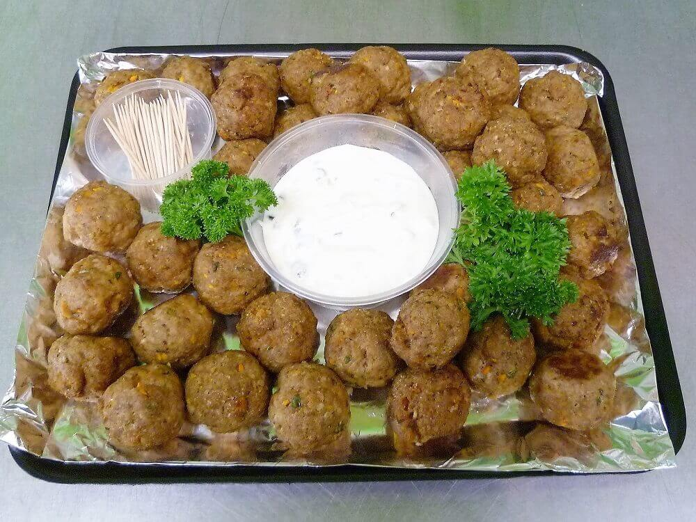 greek meatballs catering platter expresso kitchen