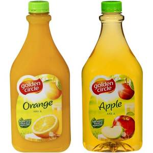 Fruit Juices - Orange, Apple (2 litres) $7.00 per bottle. Plastic cups also provided.