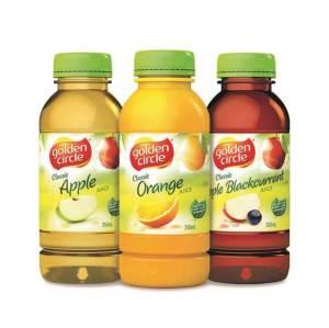Juices - Apple, Orange, Apple Blackcurrant (350ml) $3.00 per bottle