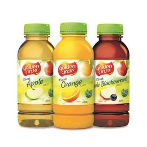Juices - Apple, Orange, Apple Blackcurrant (350ml) $3.00 per bottle