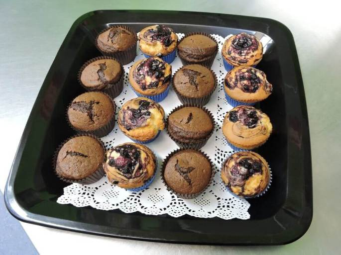 Chocolate & Blueberry Mini Muffins Catering Platter